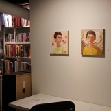 Installation shot of Self Portrait no. 15 and Self Portrait no.16