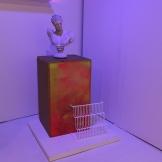 """Installation shot of """"SLOWEDDOWN80SPOPWITHABEAT"""" and """"IMSOWETMIAMAVAPE.TV"""""""